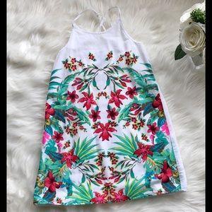 Girls tropical sundress, size 8.